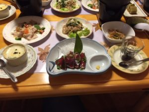 Una cena giapponese