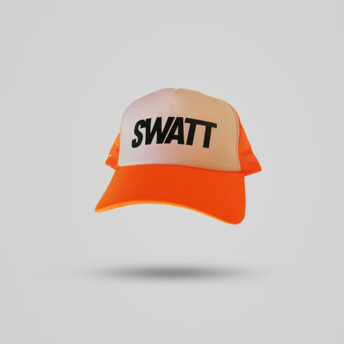 Orange Fluo Cap solowattaggio triathlon
