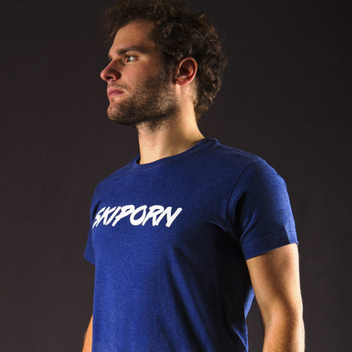 T-Shirt Skiporn Solowattaggio Blue Melange shop