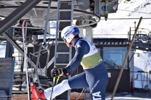 Peter Fill negli allenamenti in Val Senales