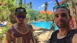 Nicholas Iliano e Daniele Sette a Bali