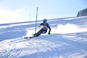 Fabian Bacher in azione al Passo Monte Croce