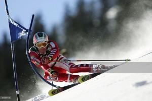 Max Blardone in azione ad Adelboden