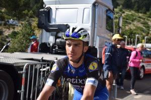 Julian Alaphilippe all' arrivo sul Mont Ventoux pochi giorni fa.