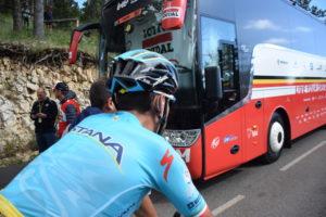 Vincenzo Nibali dopo la Tappa del Mont Ventoux al Tour de France