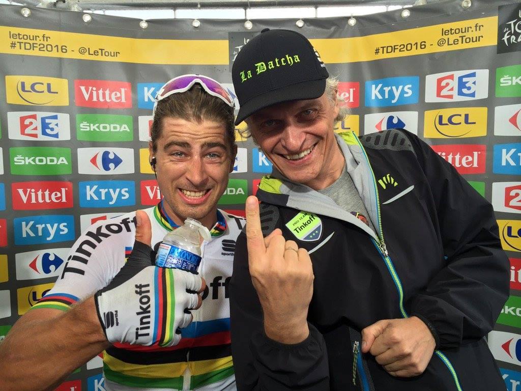 Peter Sagan and Oleg Tinkoff