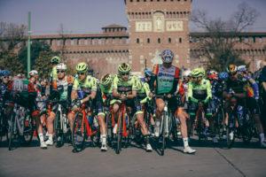 Il Castello Sforzesco, una cornice perfetta per questa corsa.
